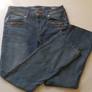 Seven7 slim boot stretch jeans 14 inseam 32